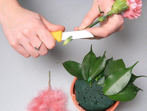 губка для цветочных композиций