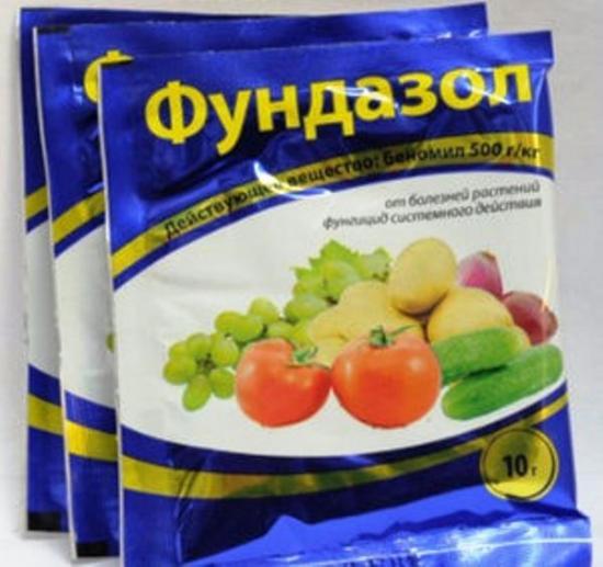 фундазол для обработки ягодных культур