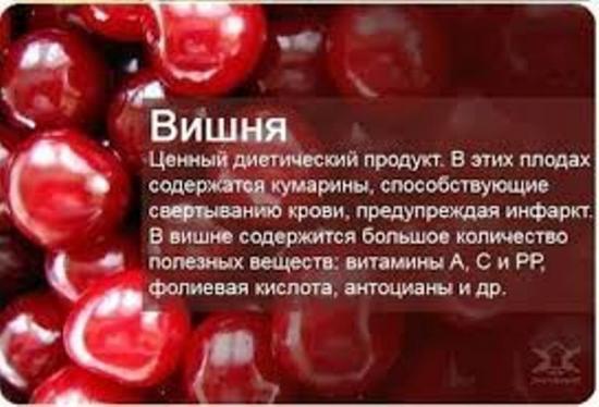 полезные свойства вишен
