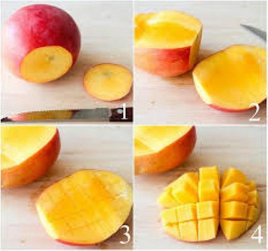 как нарезать манго без косточки