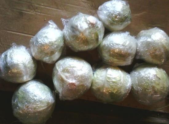 хранение капусты в пленке