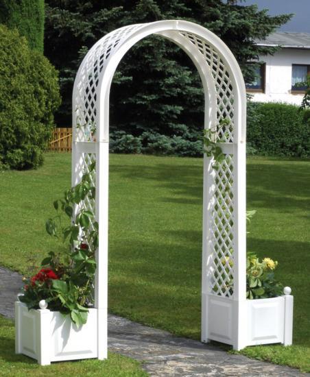 арка с ящиками для цветов