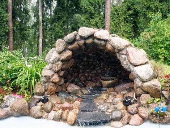 искусственный камень в ландшафтном дизайне