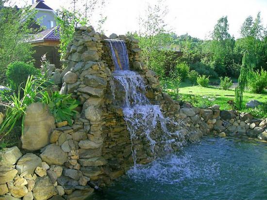 Водопады для пруда своими руками
