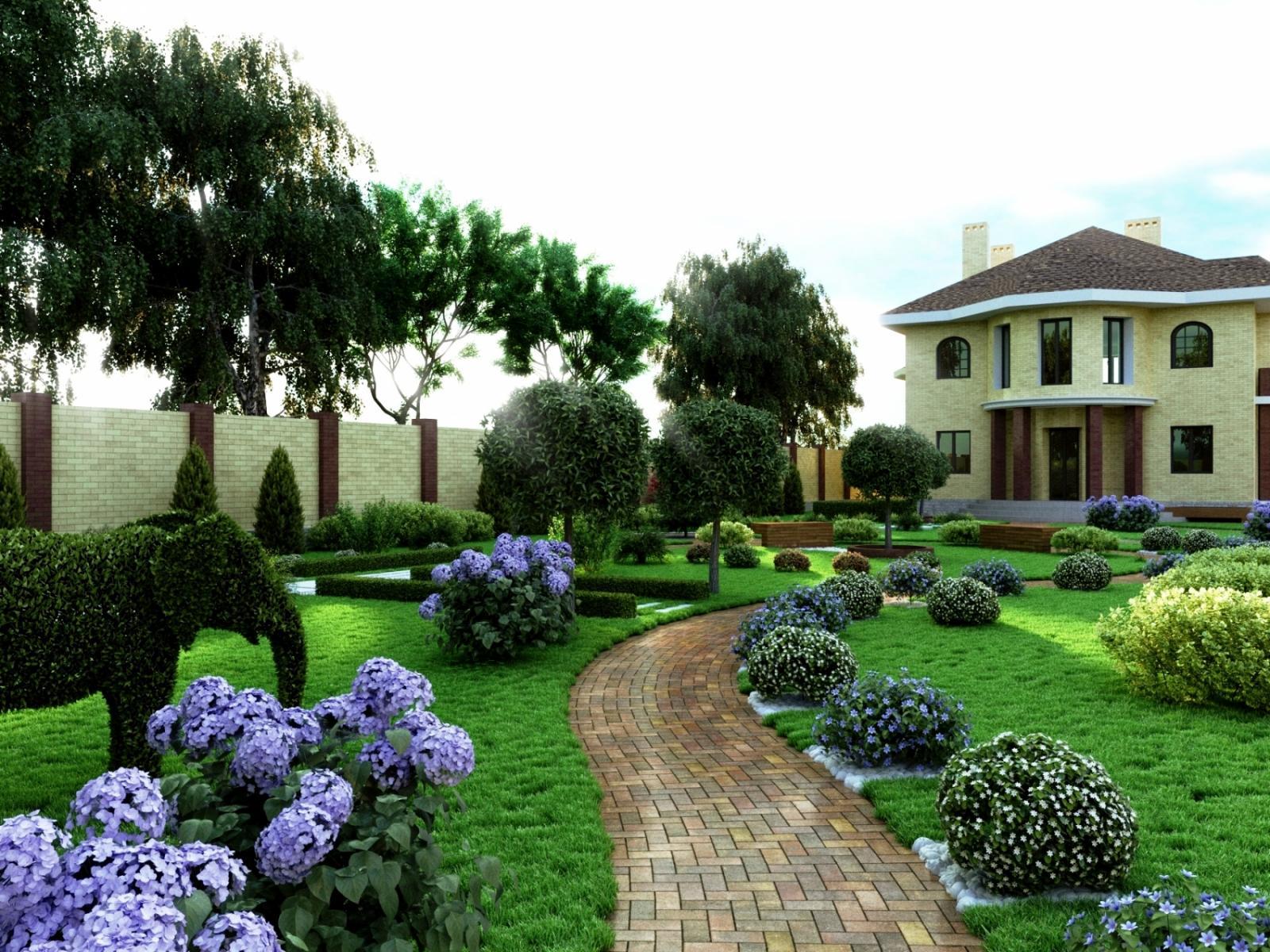 планировки участка картинки садового