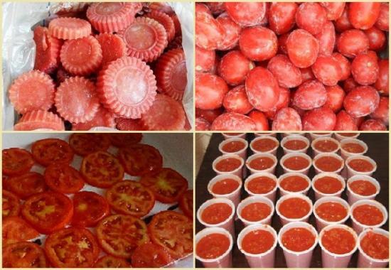 заморозить помидоры