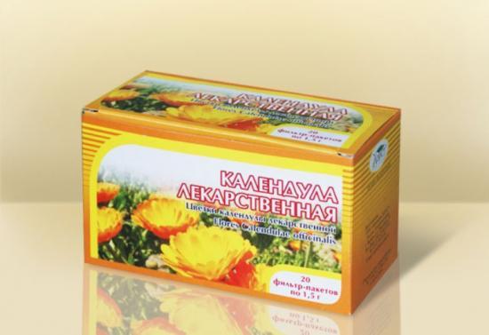 чай с цветами календулы