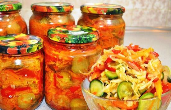 салат из капусты и моркови на зиму без стерилизации