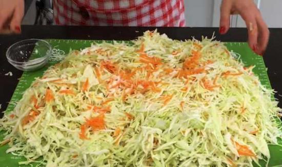 салат из капусты и моркови на зиму
