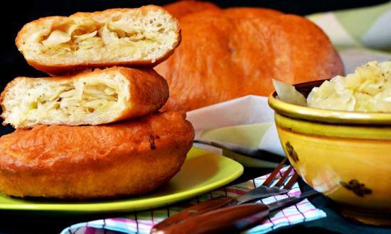 пирожки с капустой жаренные