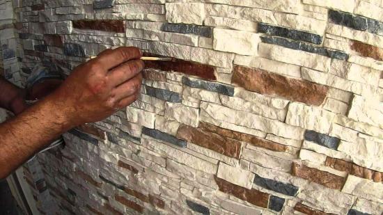 окрашивание искусственного камня
