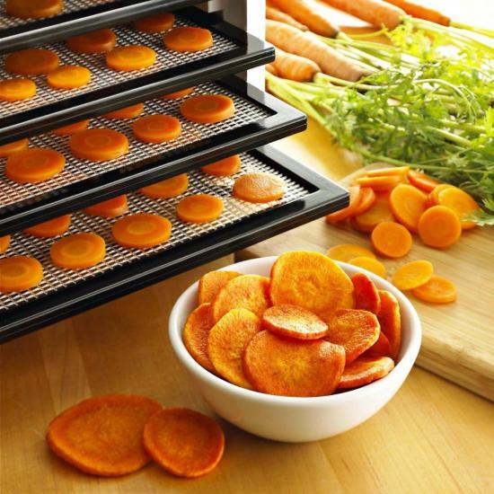 морковь в сушилке